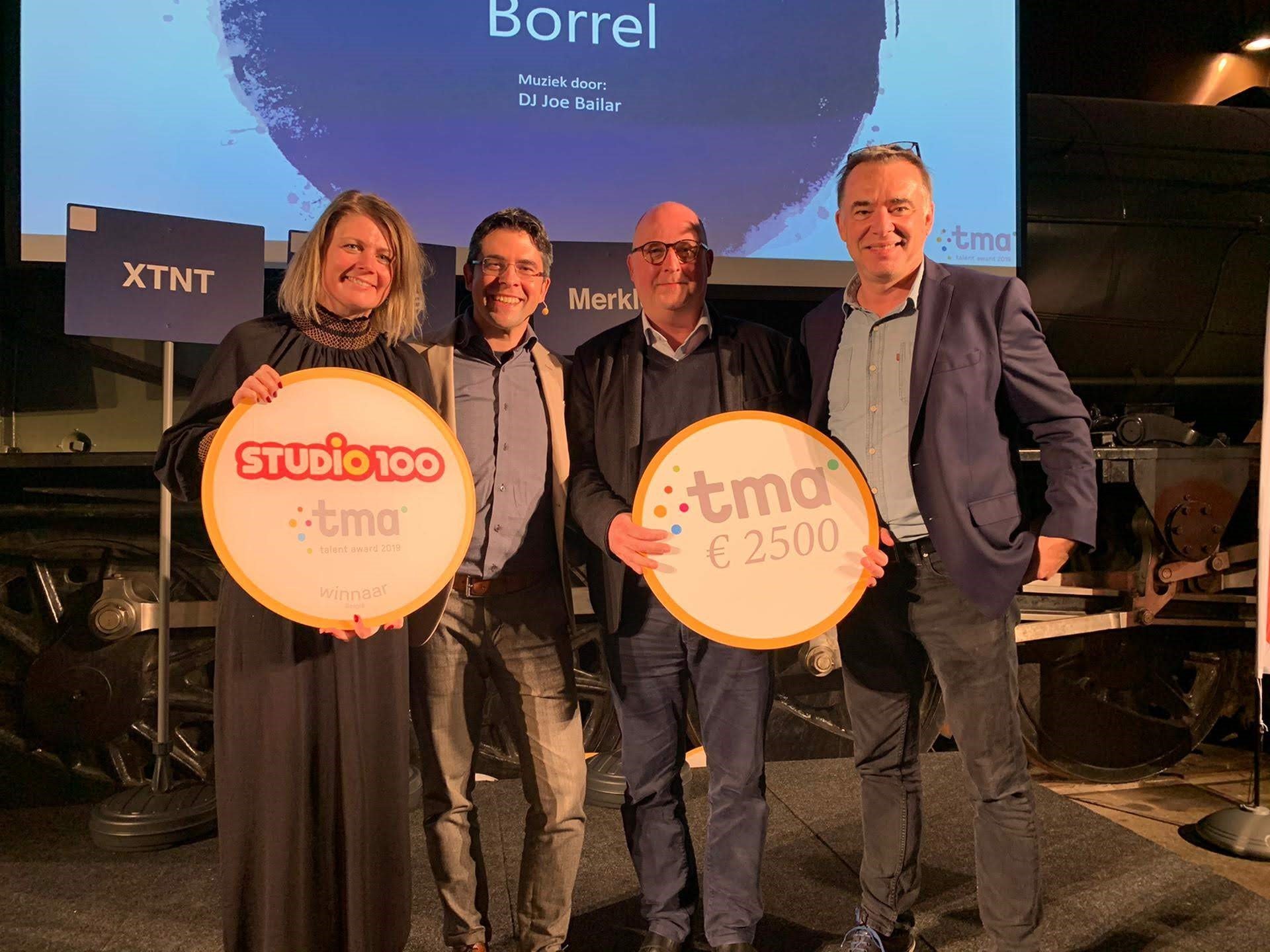 Studio 100 wint Talent Award